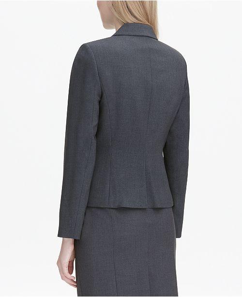 0b438738652 Calvin Klein Two-Button Blazer   Reviews - Wear to Work - Women - Macy s