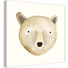 Ptm Images,Bear Watercolor Face Decorative Canvas Wall Art
