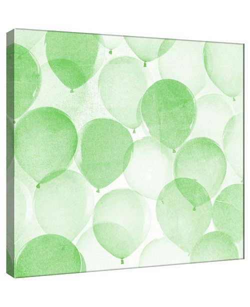 PTM Images Balloons In Green B Decorative Canvas Wall Art