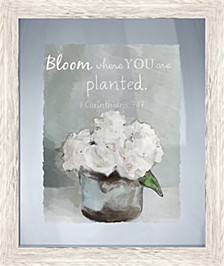 Living 31Bloom Where you are Planted Decorative Wall Art