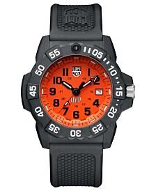Luminox Men's 3509.SC.SET Scott Cassell Orange Dial Rubber Strap Watch