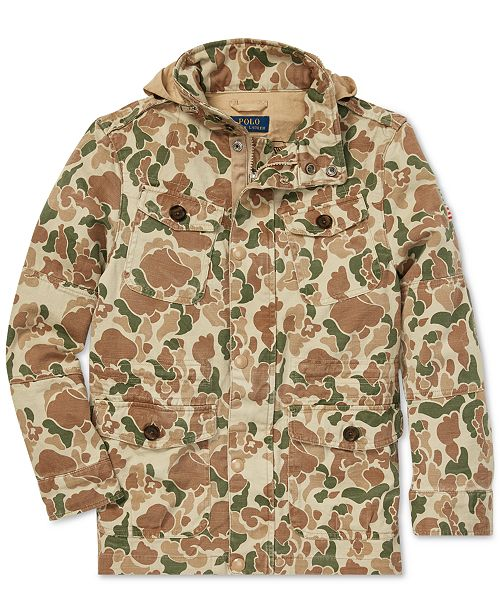 5ce3dd004fe3d ... Polo Ralph Lauren Big Boys Camouflage Cotton Field Jacket ...