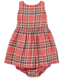 Polo Ralph Lauren Baby Girls Fit & Flare Plaid Cotton Dress