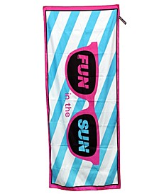 High Performance Beach Towel,Fun in the sun,BLU