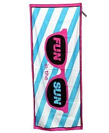High Performance Beach Towel,Fun in the sun,BLU