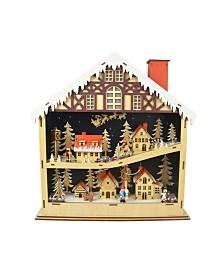 Wooden Village Figures LED