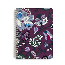 Vera Bradley Bordeaux Blossoms Mini Notebook With Pocket