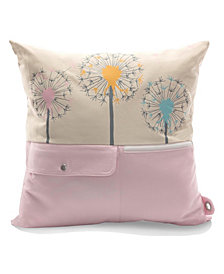 Mimish Naturalist Square Storage Throw Pillow with Pockets in Jellyfish
