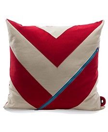 Mimish Dreamer Chevron Square Storage Throw Pillow