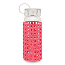 Kate Spade New York Glass Water Bottle, Coral Caning