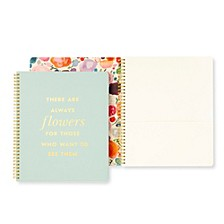 Large Spiral Notebook, Flowers