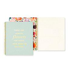 Kate Spade New York Large Spiral Notebook, Flowers