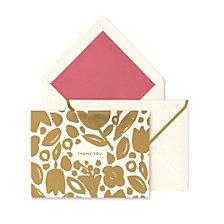 Kate Spade New York Thank You Card Set, Golden Floral