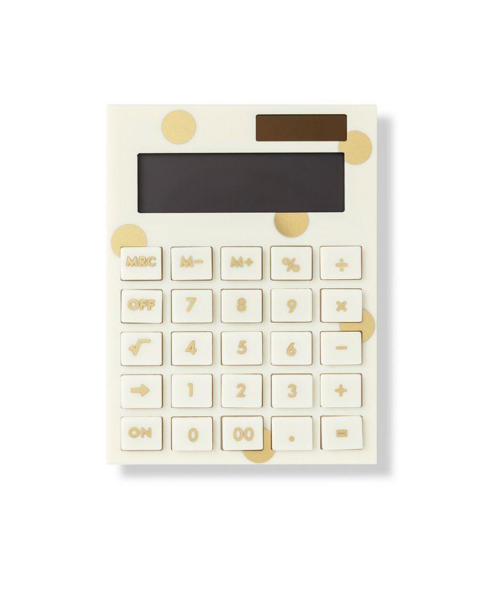 Kate Spade - KSNY Acrylic Calculator Gold Dot