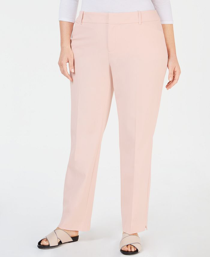 Charter Club - Plus Size Newport Straight-Leg Pants