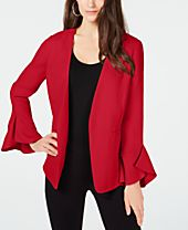 Alfani Flutter-Sleeve Jacket, Created for Macy's