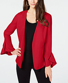 Alfani Petite Flutter-Sleeve Jacket, Created for Macy's