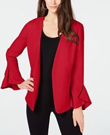 Alfani Flutter-Sleeve Jacket, Created for Macy's