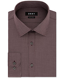 DKNY Men's Slim-Fit Stretch Mini Check Dress Shirt, Created for Macy's