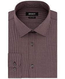 DKNY Men's Slim-Fit Stretch Mini Check Dress Shirt, Created for Macy's