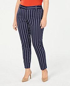 MICHAEL Michael Kors Plus Size Miranda Striped Pants