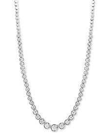 "EFFY® Diamond Graduated Bezel 16"" Collar Necklace (1-1/2 ct. t.w.) in 14k White Gold"
