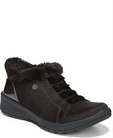 Golden Fur Trim Slip On Sneakers