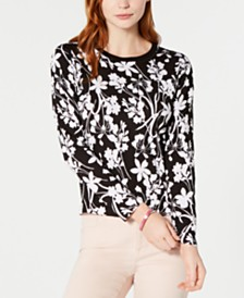 Tommy Hilfiger Floral-Print Sweater, Created for Macy's