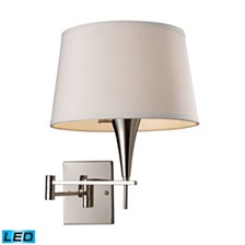 Swingarm 1-Light Sconce in Polished Chrome - LED Offering Up To 800 Lumens (60 Watt Equivalent) with Full