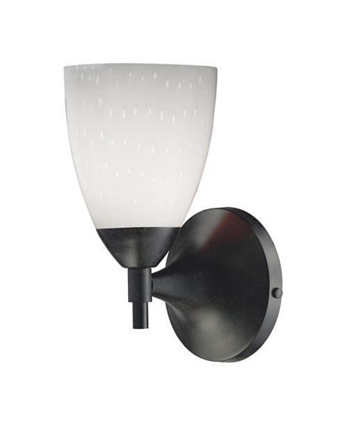 ELK Lighting Celina 1-Light Sconce in Dark Rust and Simple White Glass