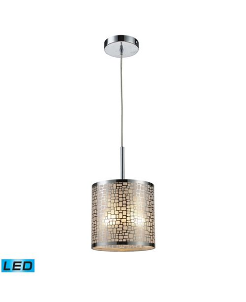 ELK Lighting Medina 1-Light Pendant in Polished Stainless Steel - LED Offering Up To 800 Lumens (60 Watt Equivalent)