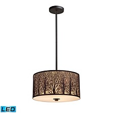 Woodland Sunrise 3-Light Pendant in Aged Bronze - LED, 800 Lumens (2400 Lumens Total) with Full Scale Dimming Range