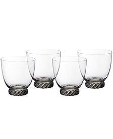 Villeroy & Boch Montauk Sand Double Old Fashioned Tumbler, Set of 4
