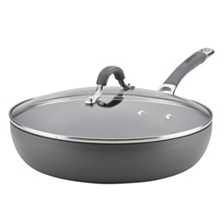 "Circulon Radiance Hard-Anodized Nonstick 12"" Covered Deep Skillet"