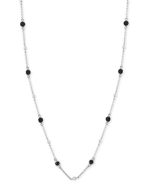 "EFFY Collection EFFY® Diamond Bezel 18"" Statement Necklace (1-1/5 ct. t.w.) in 14k White Gold"
