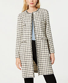 Weekend Max Mara Anabela Fringed Tweed Coat