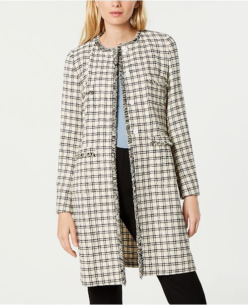 7cf7291d423 Weekend Max Mara Anabela Fringed Tweed Coat & Reviews - Jackets ...