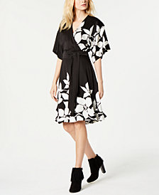 Trina Turk Floral-Print Belted Dress, Created for Macy's