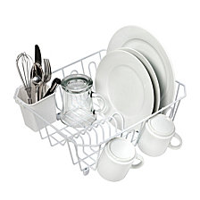 Honey Can Do Small Wire Dish Rack, White