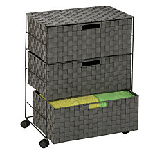 Honey Can Do Speckled 3 Drawer Rolling Chest