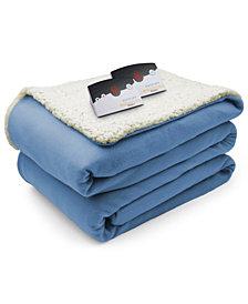 Biddeford Heated Comfort Knit Fleece/Sherpa King Blanket