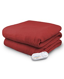 Electric Comfort Knit Fleece Throw