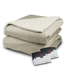 Heated Micro Mink/Sherpa King Blanket