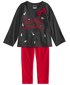 First Impressions Baby Girls Holiday Wonder Graphic Tunic & Leggings Separates, Created for Macy's