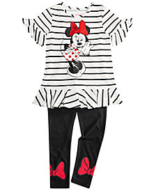 Disney Toddler Girls 2-Pc. Striped Minnie Tunic & Leggings Set
