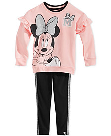 Disney Little Girls 2-Pc. Minnie Mouse Sweatshirt & Leggings Set