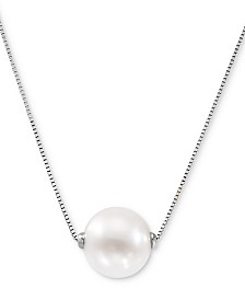 "Honora Pink Cultured Freshwater Pearl (8-1/2mm) 18"" Pendant Necklace (Also in White Cultured Freshwater Pearl)"