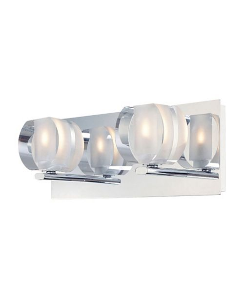 ELK Lighting Circo Double Lamp With Rounded Inside Frosted Crystal Glass - Chrome Finish
