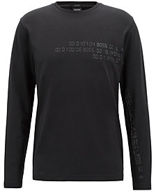 BOSS Men's Reflective-Print Long-Sleeve T-Shirt