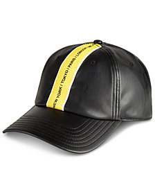 I.N.C. Men's Faux Leather Baseball Cap, Created for Macy's